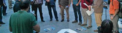 foto roda d'homes contra la violència de gènere a Santa Coloma de Cervelló