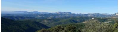 imatge d'un paisatge muntanyòs, des del Cap de Pla de J. Grau