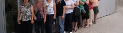 Foto de grup de l'alumnat del punt Òmnia
