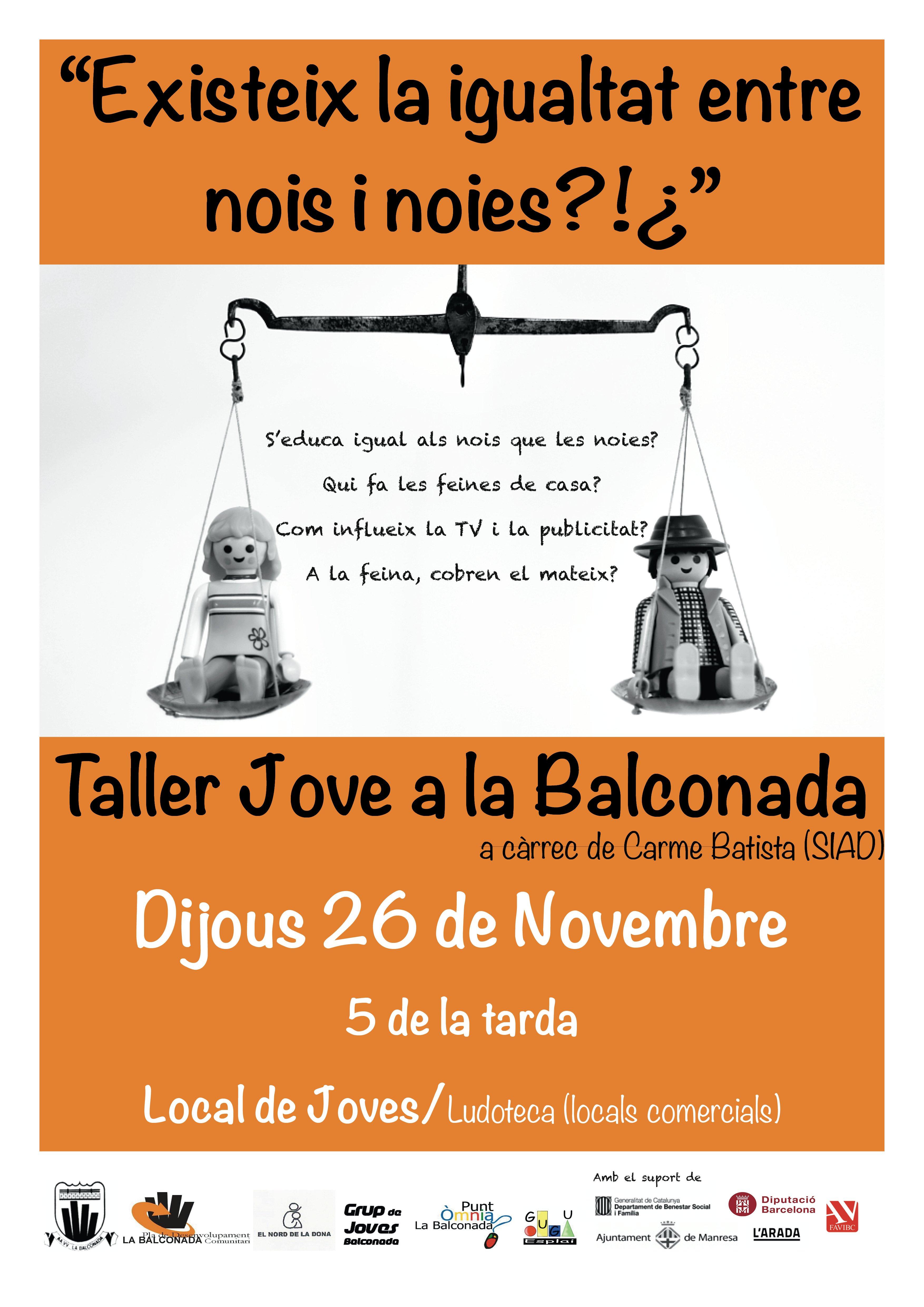 Taller jove igualtat de gènere Balconada 2015.