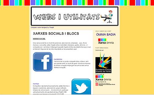 Web 'Recursos i utilitats' creada per l'Eva i la Cristina.