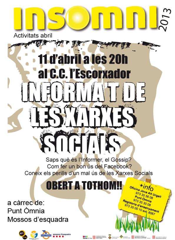 cartell activitat informativa xarxes socials
